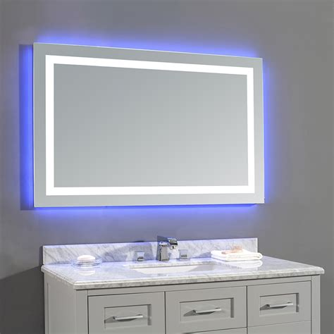 lighted bathroom mirror canada ove decors jovian led bathroom mirror lowe s canada