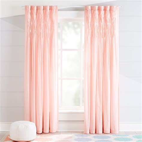 chic pink curtains crate  barrel