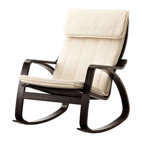 po 196 ng fauteuil 224 bascule alme 233 cru brun noir ikea
