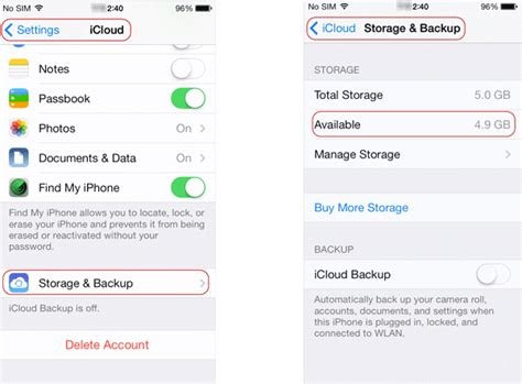 manage iphone storage how to remove iphone ipod backup from icloud storage