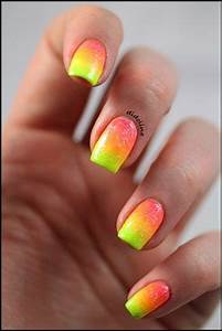 94 best Neon Nail Art images on Pinterest