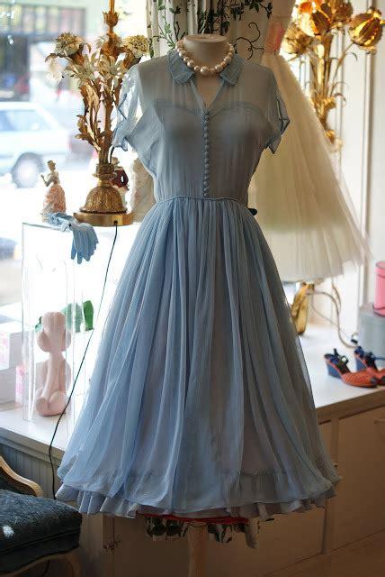 elegant   doll collar short sleeves blue chiffon