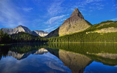 swiftcurrent lake mountains grinnell point  mount gould