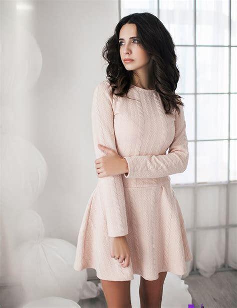 Dress zefinka pastel knitwear rose mini dress urban fall outfits winter outfits fall ...