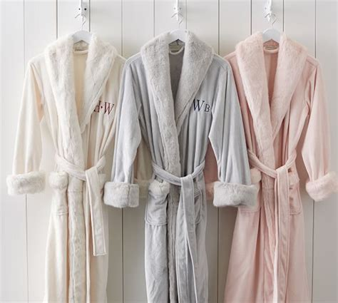 pottery barn robe tonal colored fur robe pottery barn