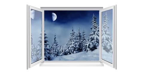 Open Snow by Snow Den Forest Faux Window Murals Dezign With A Z