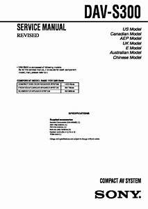 Sony Dav-s300 Service Manual