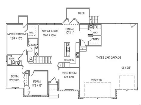 one level house plans with basement single open floor plans ranch house floor plans with