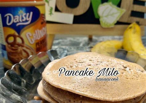 Tambahkan oatmeal dan susu cair low fat ke dalam wadah, kemudian aduk hingga membentuk adonan pancake. Resep Pancake Milo Tanpa Susu - Resepi Kuliner Melayu
