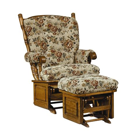 furniture majestic oak post back solid panel glider
