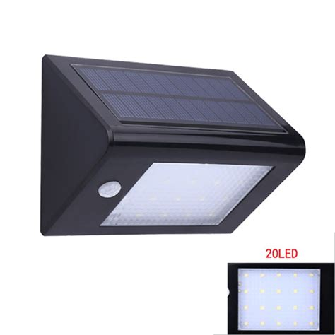 solar power outdoor wall lights body sound sensor led wall