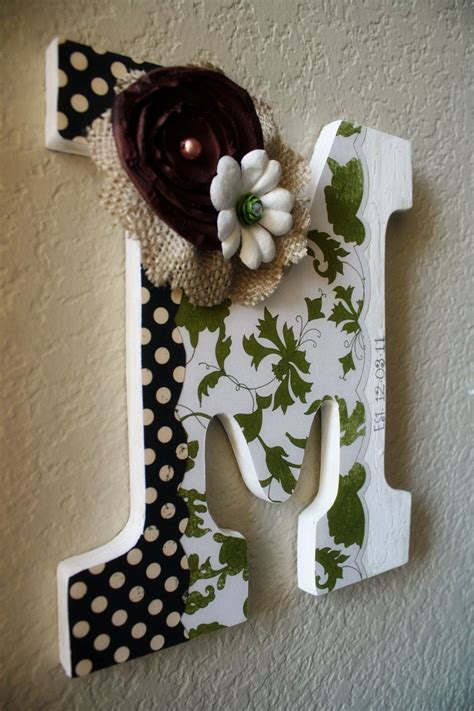 custom wooden wall letter wedding nursery home decor  lolamonkey  crafts letter