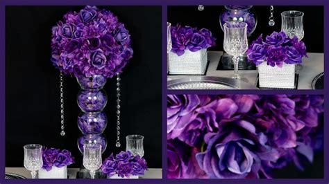 purple and silver wedding reception decorations menu