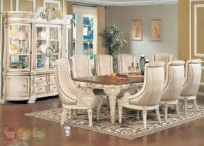 antique dining room sets halyn antique white formal dining room set with extension leaf