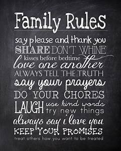 family rules free printable how to nest for lesstm With chalkboard printable generator