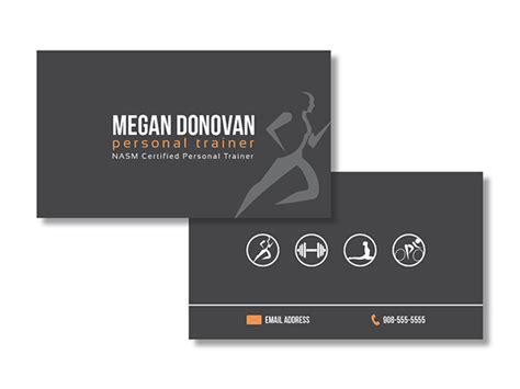 personal training business card  behance
