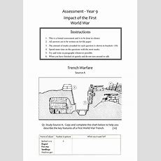Wwi Source Assessment Worksheet  Year 9 (ks3) Lesson Resource