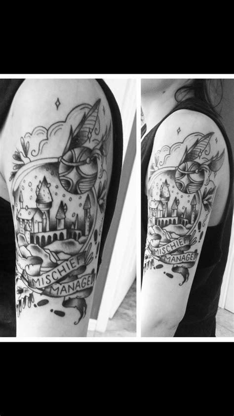 Harry Potter sleeve | Harry Potter Tattoos | Harry potter tattoos, Harry potter, Sleeve tattoos