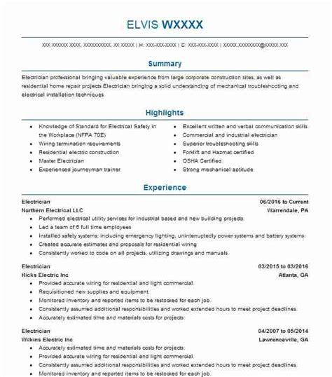 Resume Electrician by Electrician Resume Dandilyonfluff