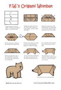 origami wombat printable version