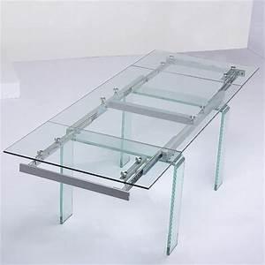 table a manger en verre extensible With meuble salle À manger avec table salle a manger en verre extensible
