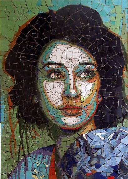 Mosaic Portrait Portraits Portret Mozaic Behance Moldovan