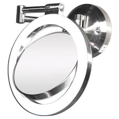 zadro surround light 10x 1x wall mirror in satin nickel