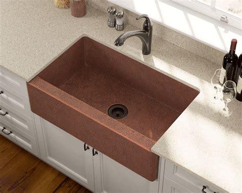 single bowl copper apron sink
