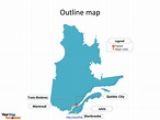 Quebec map PowerPoint templates - Free PowerPoint Templates