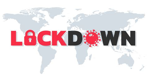 Lockdown Text on World Map - Download Free Vectors ...