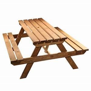 Table Exterieur En Bois : table de picnic agad castorama ~ Teatrodelosmanantiales.com Idées de Décoration