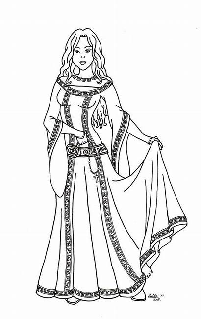 Medieval Princess Drawing Times Cid El Coloring