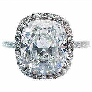 Harry Winston 4.44 Carat GIA Cert Diamond Platinum ...