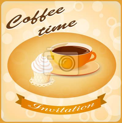 einladung mit kaffee und kuchen fototapete fototapeten