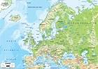 Physical Map of Europe - Ezilon Maps