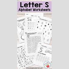 Letter S Worksheets  Alphabet Series  Easy Peasy Learners