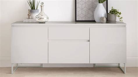 Gloss Sideboard Uk by Modern High Quality Grey Gloss Sideboard With Storage Uk