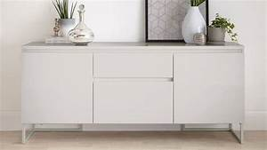 Modern High Quality Grey Gloss Sideboard With Storage