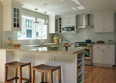 White Coastal Kitchen  Traditional  Kitchen Boston