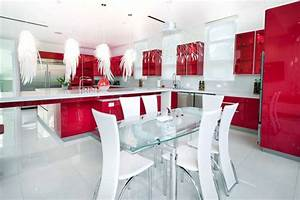 red kitchen designs photo gallery peenmediacom With kitchen colors with white cabinets with handicap sticker for car