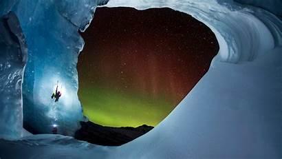 Climbing Athabasca Glacier Ice Jasper Alberta Cave