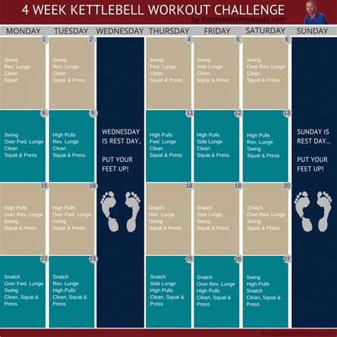 kettlebell challenge week workout fun workouts exercise routines training exercises plan today chart kettlebellsworkouts excel join plans greg fat fitness