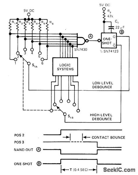 Rotary Switch Debounce Basic Circuit Diagram