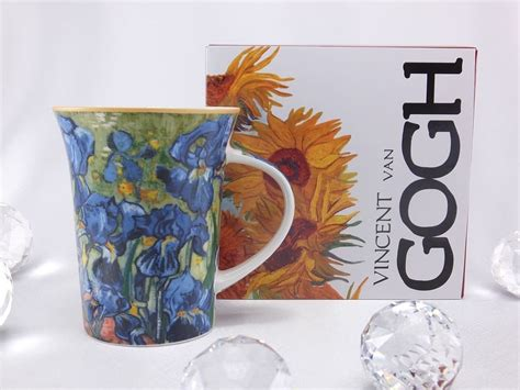 Their own special place to get the best pizza or the most popular place to get the best college merchandise. Vincent van Gogh Irises coffee cup glass plate cushion collection - DELUXE by MJS