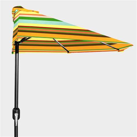 stripe outdoor half umbrella world market