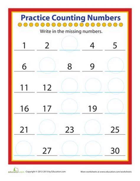 practice counting numbers kindergarten kindergarten math worksheets number worksheets