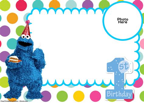 Cookie Invitation Template by Free Sesame 1st Birthday Invitation Template Free
