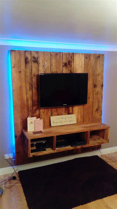 home crafted scaffold board tv wall design tv wall