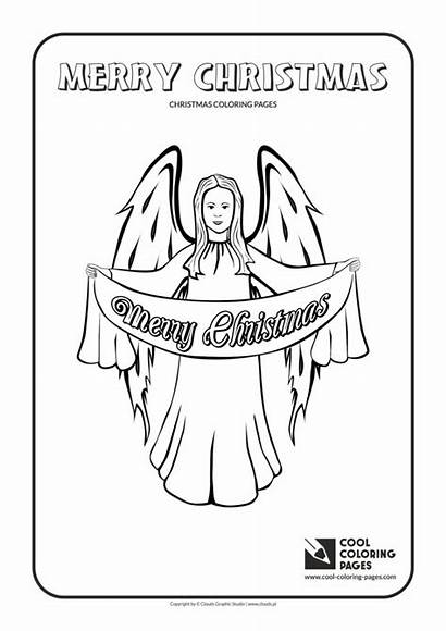 Coloring Pages Christmas Angel Cool Educational
