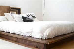 Modern Floating Platform Bed Frame